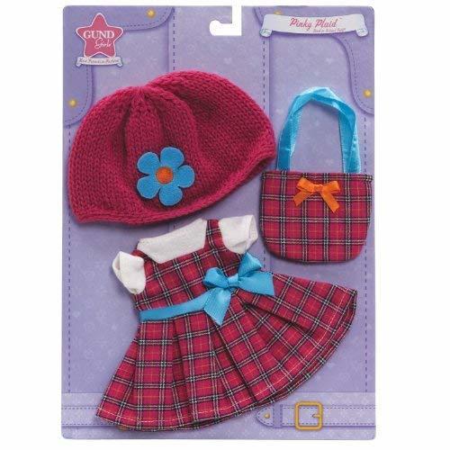 "Gund Pinky Plaid Back To School Outfits Fits Gund Girls 17"" Dolls - $4.90"