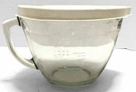 Pampered Chef 8 Cups 2 Qt Glass Measuring Mixing Batter Bowl w Lid Never... - $61.37