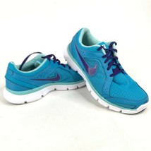 Nike Flex Experience RN2 Womens 8 Running Shoes Vivid Blue Purple 599548... - $37.40