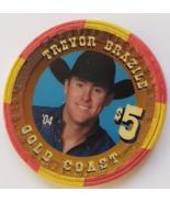 Las Vegas Rodeo Legend Trevor Brazile '04 Gold Coast $5 Casino Poker Chip - $19.95