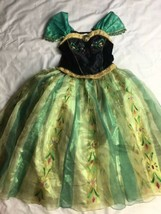 Disney Store Anna Girl 7/8 Frozen Coronation Dress Deluxe Princess Party... - $37.39