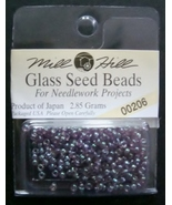 Mill Hill Glass Beads for Needlework Projects 00206 Violet - $1.25