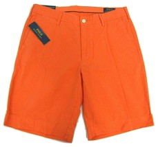 "NWT Polo Ralph Lauren Classic Fit Orange Shorts Men's W32"" Inseam 9"" 100% Cotton - $41.12"