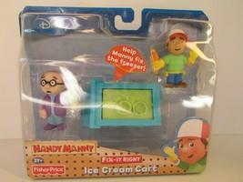 Disney Fisher Price Giochi Personaggi Handy Manny Gelato Cart 3 & Up Nuovo - $19.59