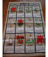 Vintage Ulscer Irish Linen Tea Towel Bermuda Calendar 1985 Dish Cloth Co... - $14.95