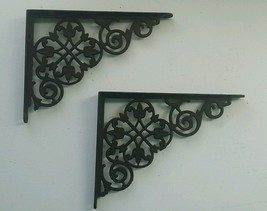 Antique Victorian Ornate Cast Iron Shelf Brackets - Lace Tulip -Medium 8... - $90.00
