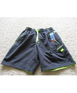 BNWT Speedo Mens' swim trunks, black/green, size S, $42 - $26.24