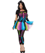 Funky Punk Bones Adult Womens Costume HALLOWEEN - $32.48