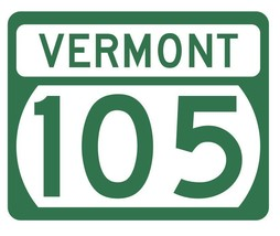 Vermont State Highway 105 Sticker Decal R5310 Highway Route Sign - $1.45+
