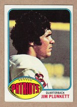 1976 Topps #104 Jim Plunkett New England Patriots Near Mint+ NM condition - $4.50