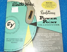 Electro-Voice EV 53-3 Zenith 142-80 87 cartridge needle for Astatic 93T3 78 RPM image 1