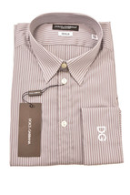 Dolce&Gabanna Men's Long Sleeve Shirt Size 40 Grey/White - $145.36