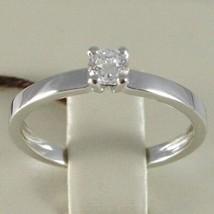 WHITE GOLD RING 750 18K, SOLITAIRE, STEM SQUARE, DIAMOND CARAT 0.27 image 1
