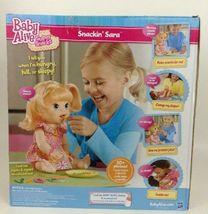 Baby Alive Super Snacks Snackin Sara Brunette Doll Talks Eats Wets 2015 Hasbro image 6