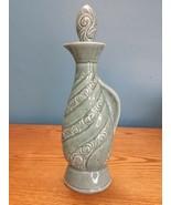 Jim Beam 1966 Genuine Regal China Speckle Turquoise Decanter Swirl Cork ... - $20.74
