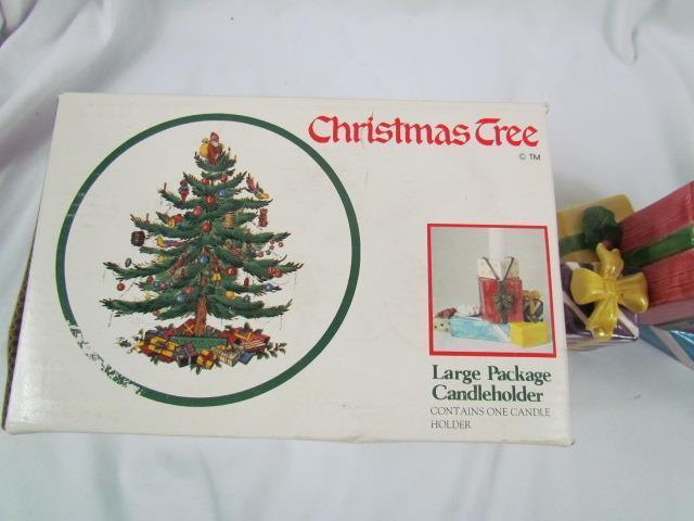 Spode Christmas Tree Made In England Large Package Candle