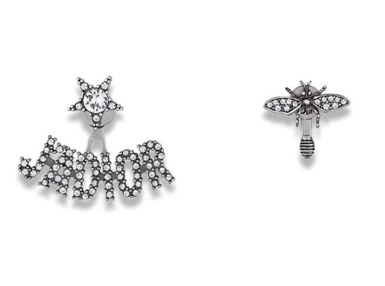 "Authentic Christian Dior ""J'ADIOR"" EARRINGS Crystal Star Bee 2018"