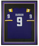 Joe Burrow Signed Framed LSU Tigers Purple Nike Football Jersey Heisman ... - $791.99