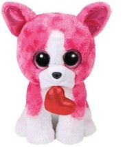 "Valentine's Day TY Romeo Pink Dog Beanie Boos 9"" Plush  - 2018 - $19.99"
