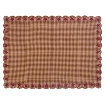 BURGUNDY Star Scalloped Table Cloth - 60x80 - Burgundy/Dark Tan - VHC Brands