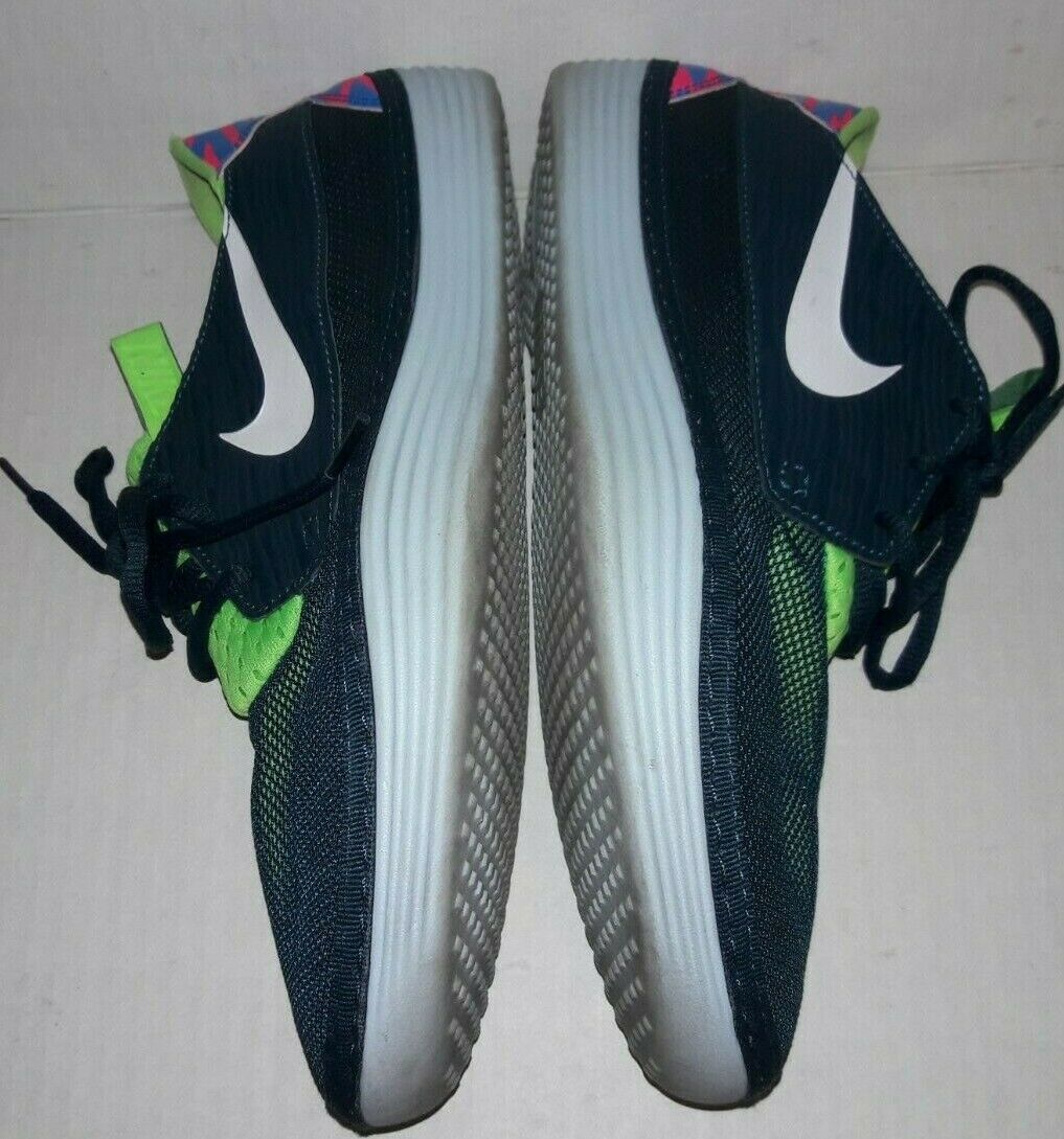 Nike Solarsoft Moccasin Men's Athletic Shoes Size 11 Running Sneakers Blue Green