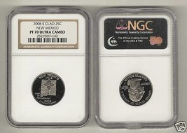 2008 S Clad 25¢ New Mexico PF70 Quarter Coin U.C. NGC