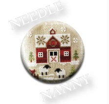 Little Red Barn Farmhouse Christmas #1 Needle Nanny needle minder Stitch... - $12.00