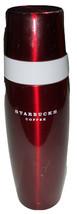 AWESOME Starbucks Coffee/Tea Red White 16 oz HTF Travel Thermos 2008 - $14.85