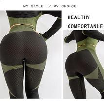 Women's New Crop Tops Leggings Seamless Sportswear High Waist Yoga Suit image 3