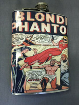 Blonde Phantom Comic Flask 8oz Stainless Steel Drinking Whiskey Clearanc... - $7.92