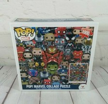"""Funko Pop! New Sealed Marvel Collage Puzzle By Cardinal 1000 Piece 19"""" x... - $15.10"""