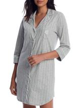 LAUREN RALPH LAUREN Grey Stripe Heritage Knit 3/4 Sleeve Sleepshirt, US ... - $33.66