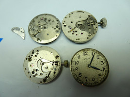 Lot of Elgin Waltham military watch movements for repairs parts - $120.94