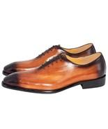 Handmade Men Genuine Leather Dress Shoes High Quality Italian Design Bro... - $102.47