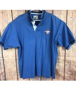 Cutter & Buck Polo Shirt Men's XL Michelob Light Classic Golf Cotton Blue - $11.36