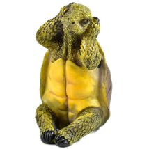 See No Evil Speak No Evil Hear No Evil Three Wise Turtles Tortoise Figurine Set image 4