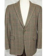 GORGEOUS Arnold Brant 100% Cashmere Hunter's Plaid Dual Vent Sport Coat 41R - $89.99