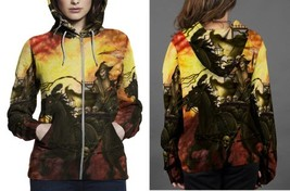 Death On The Road Wallpaper Hoodie Zipper Women's - $48.99+