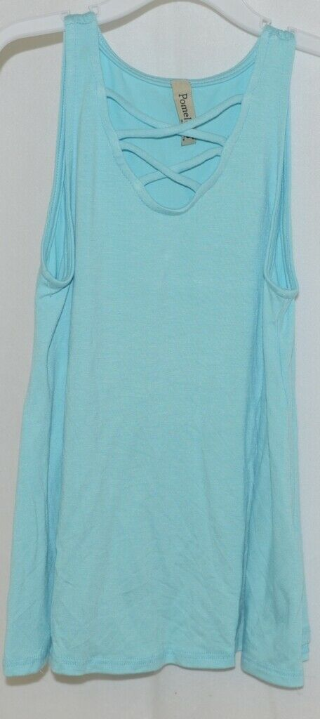 Pomelo Sky Blue Tunic Top Sleeveless Summer Top Girls Size Medium