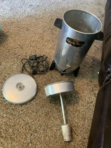 Vintage Electric Coffee Percolator / C-9292 / 22 Cup / With Cord / 1970  image 4