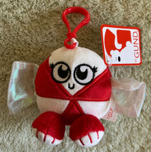 NEW GUND Red White Peppermint Candy Holiday Fleece Toy Keychain Backpack... - $7.38