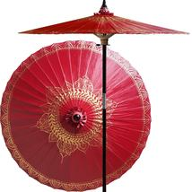 Siamese Dream (Oxblood Red) Outdoor Patio Umbrellas - $199.95