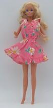 1970s Vintage Barbie Ruffles n' Swirls Pink Daisy Dress -VERY RARE! - $49.49