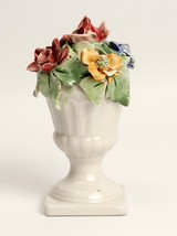 Vintage Capodimonte Floral Figurine Italy 5 Inches Tall - $6.16