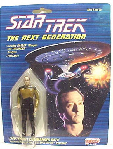 Star Trek: The Next Generation Galoob Data Speckled Face Action Figure 1988 MOC