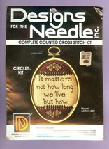 IT MATTERS NOT HOW LONG WE LIVE Counted Cross Stitch Kit Designs for the... - $9.47