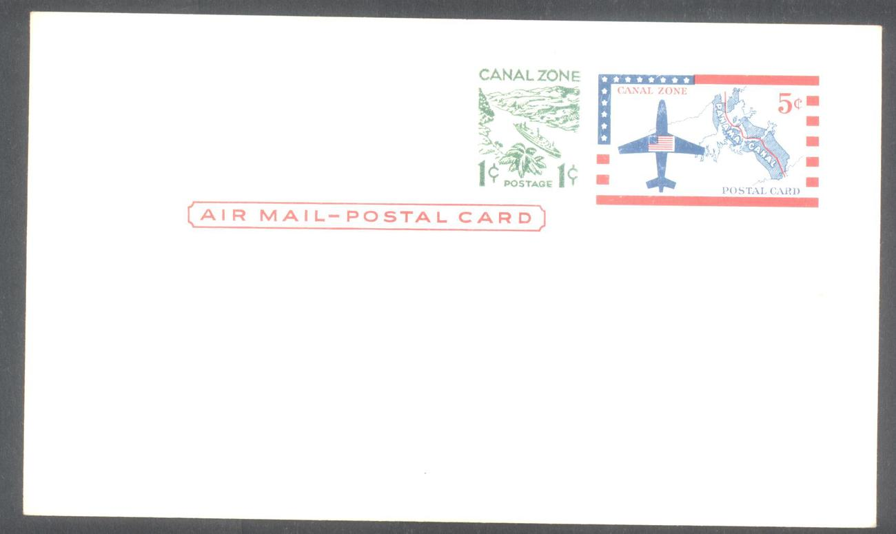 Canal zone post card 5 plus 2 cent