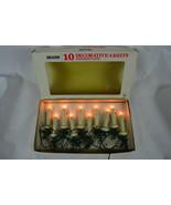 Vintage Sears 10 Decorative Lights Straight Line Christmas Lights - $14.84