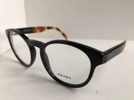 New PRADA VPR 1T6 Black 50mm Round Eyeglasses Frame No case #8 - $189.99