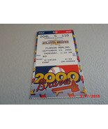 Florida Marlins vs. Atlanta Braves September 14,2000 Baseball Game Ticke... - $2.97